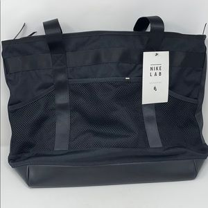 Nike lab black messenger tote bag